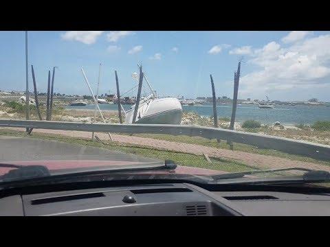 Driving around St. Maarten 9 months after Irma