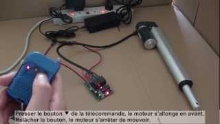 Comment utiliser kit émetteur récepteur radio 2 canaux pour commander un moteur télescopique?