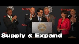 Nissan: 1,000 new jobs will result from a new supplier park for Nissan in Tennessee
