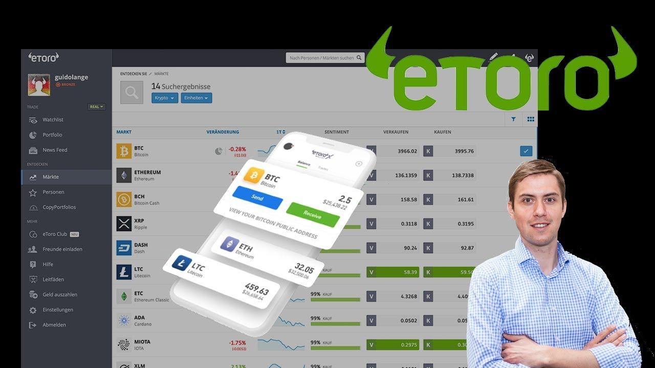 Kann ich Crypto von ETORO an die Hardware-Brieftasche ubertragen?