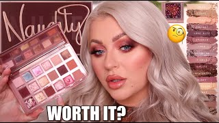 NEW HUDA BEAUTY NAUGHTY NUDE EYESHADOW PALETTE REVIEW & SWATCHES!