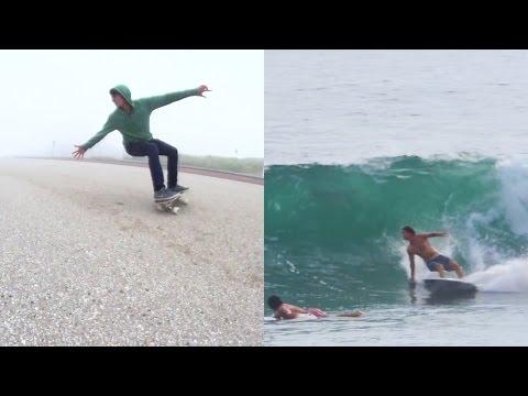 German Surf Champion Marc Piwko Land Surfing