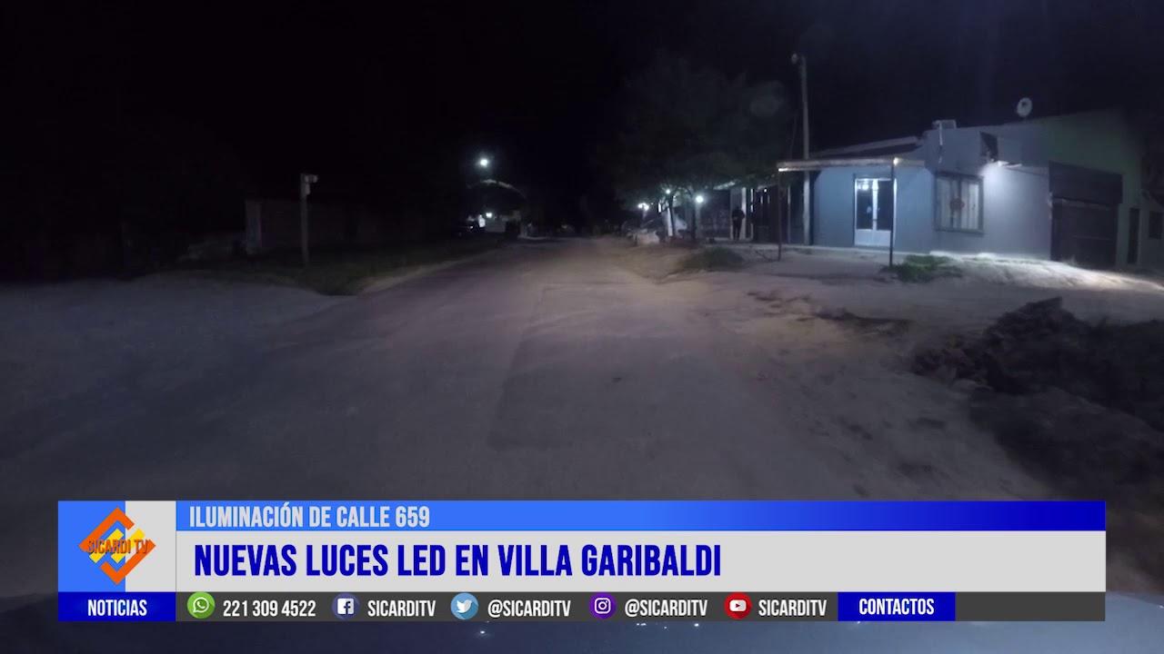 Nuevas luces led en Villa Garibaldi