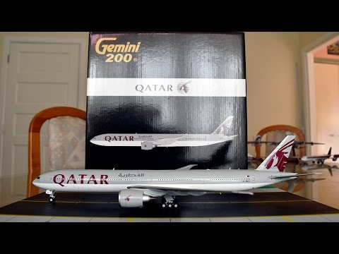 Gemini Jets 1:200 Qatar Airways 777-300ER Unboxing and Review