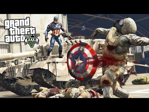 GTA 5 Mods - ULTRA REALISTIC CAPTAIN AMERICA MOD w/ THROWING SHIELD MOD!! (GTA 5 Mods Gameplay)