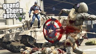 GTA 5 Mods - ULTRA REALISTIC CAPTAIN AMERICA MOD w/ THROWING SHIELD MOD!! (GTA 5 Mods Gameplay)
