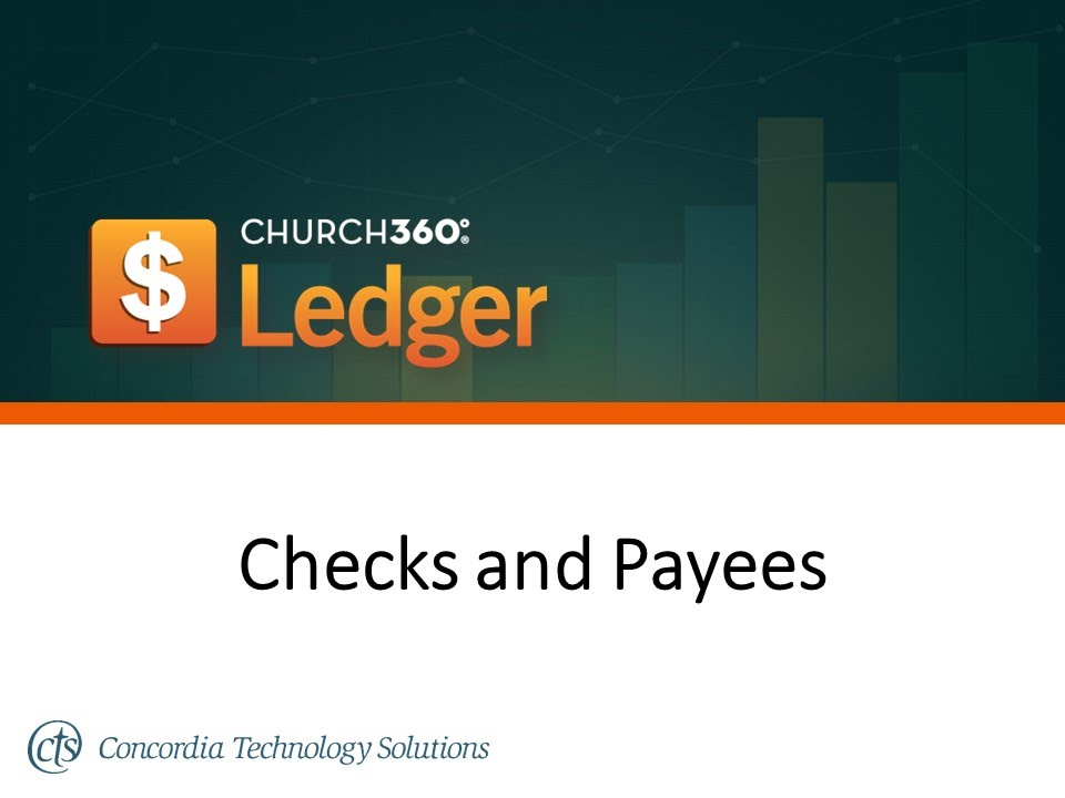 church360 ledger checks and payees youtube