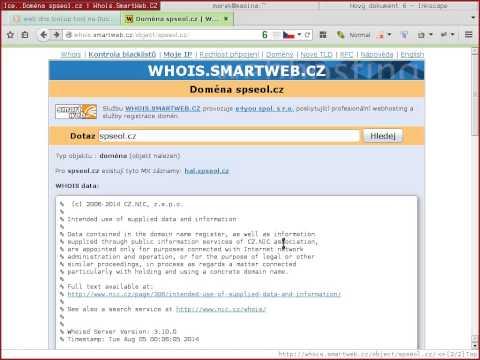 DNS a  whois
