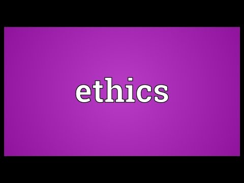 Ethics Meaning