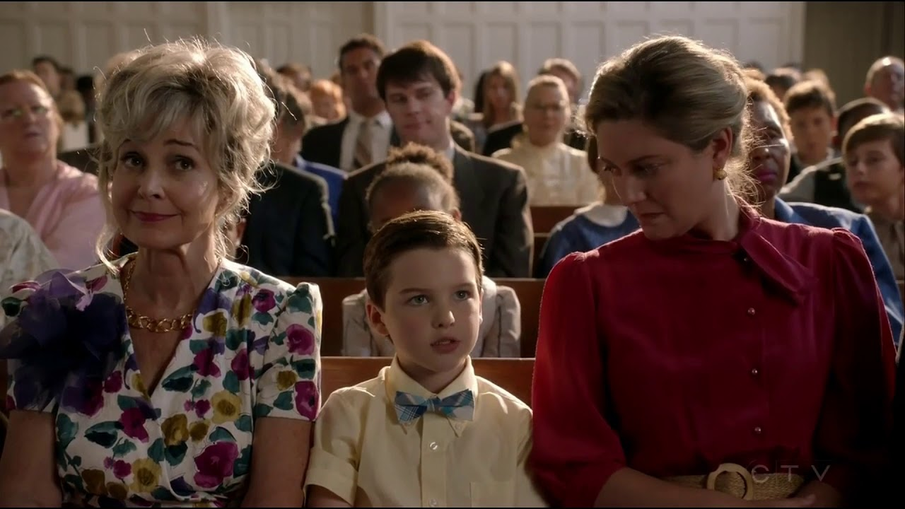 Young sheldon tells about God to Pastor Jeffery