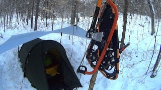 Solo Winter Camping in Canada, Algonquin Park 2016, Christmas Holidays!
