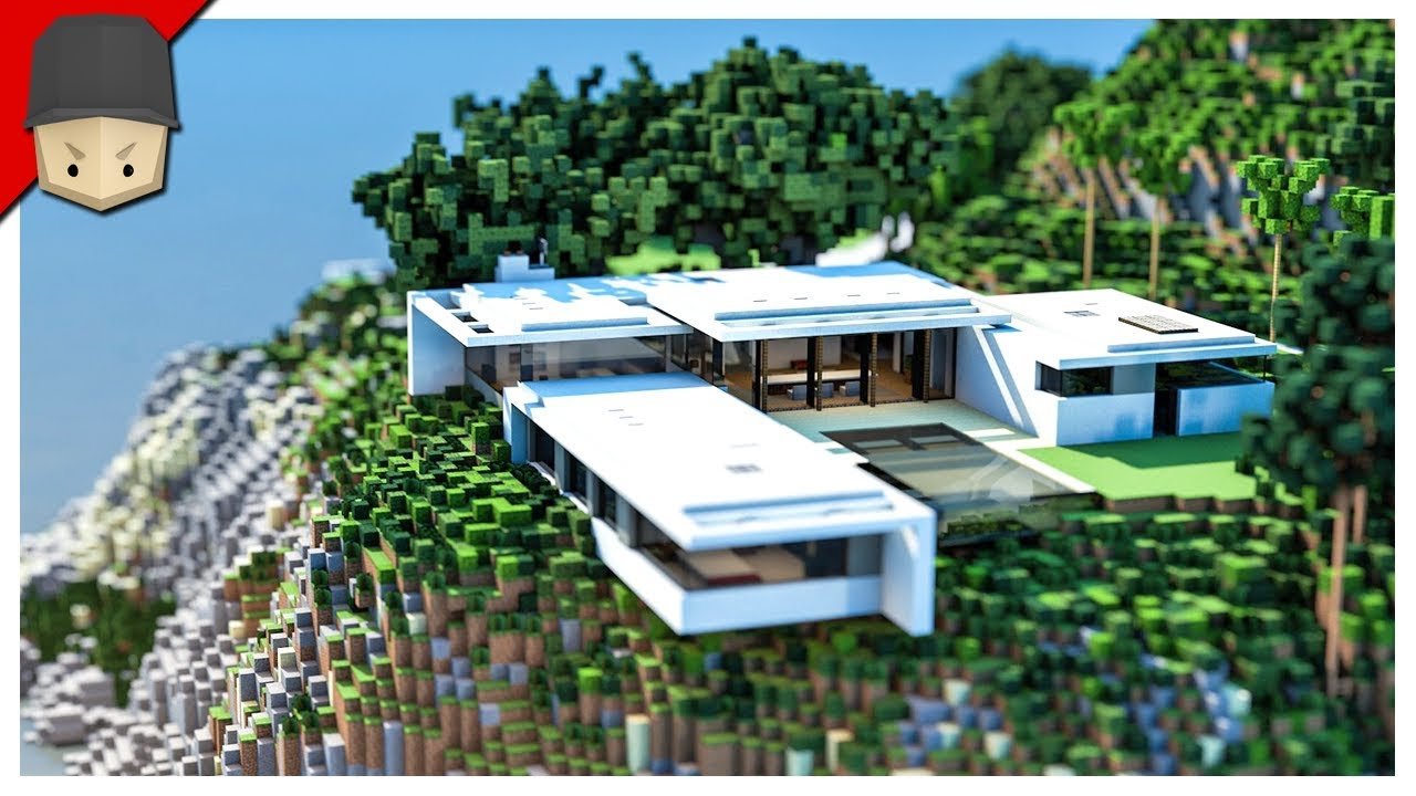 Minecraft modern mountain house youtube for Mtn house