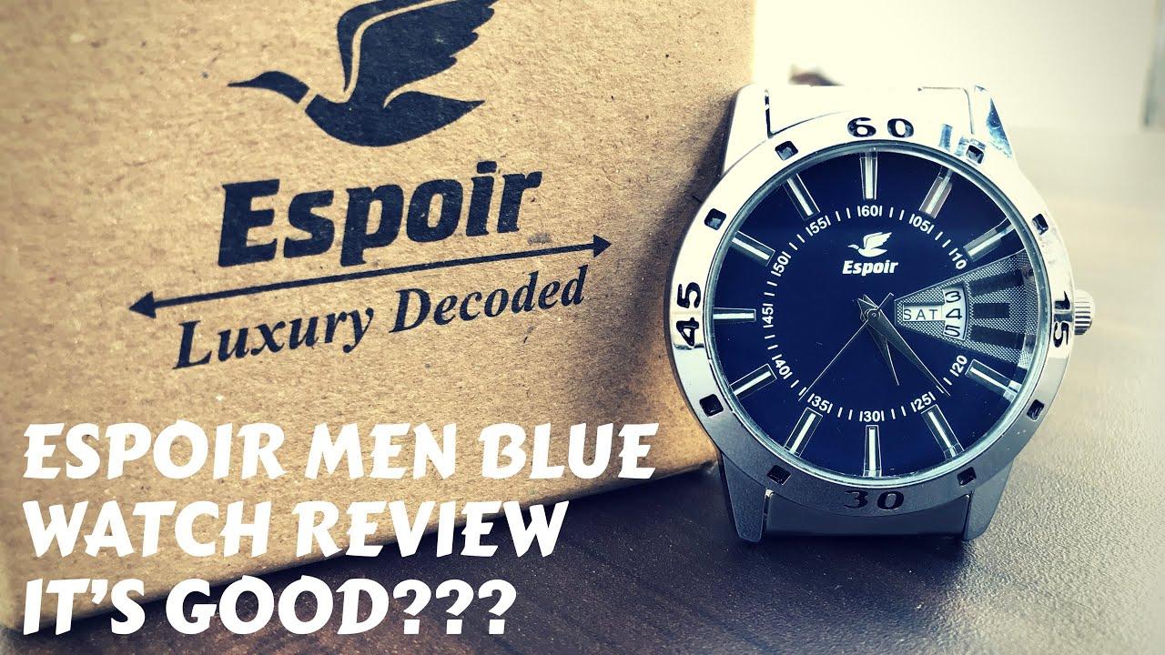 29aa2ecf442 Espoir Men Blue Dial Watch Review   My Opinion