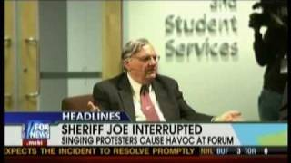 Communist students disrupt Sheriff Joe Arpaio at Arizona State