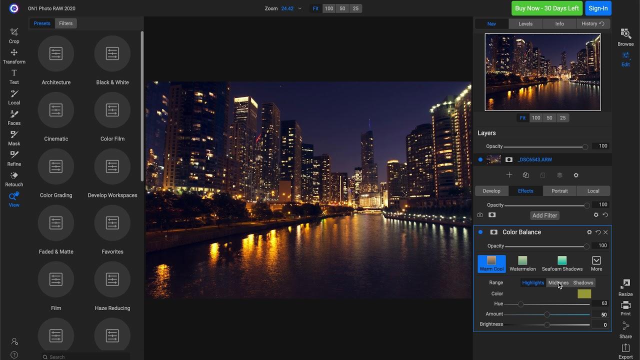 Phần mềm ON1 Photo RAW 2020