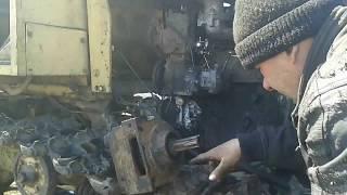 Работа. Ремонт пускача трактора.