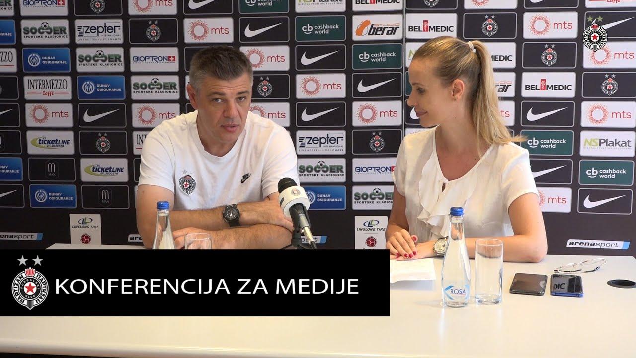 Konferencija za medije pred 4.kolo Linglong Tire SLS FK Radnik - FK Partizan