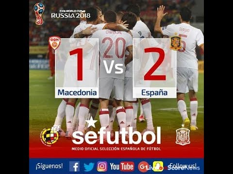 Македония - Испания 1:2 видео