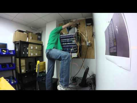 3.5 Hours of network re-cabling in 36 seconds