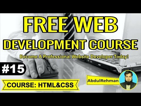 HTML and CSS Tutorial in Urdu/Hindi Part 15 by Abdul Rehman thumbnail