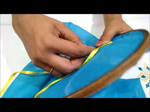 Designing your own dress   Flower making with Embroidery   कड़ाई के फूल बनाना