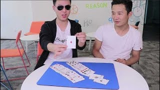 扑克牌找到4张A多难?小伙随手一拿就出现!(How difficult is it to find 4 A cards? The boy appeared with a hand.)