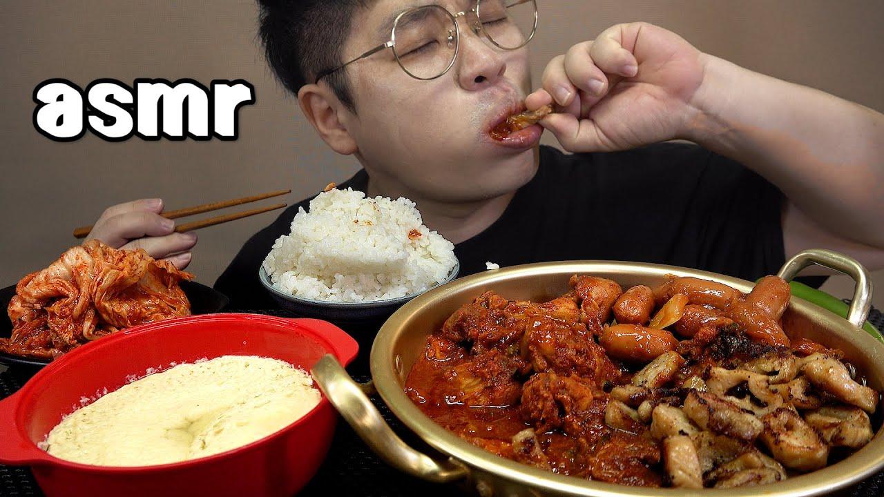 먹방창배tv 닭볶음탕에 막창을 넣어도 맛있을까 대박 왕대박 맛있게 Braised Spicy Chicken mukbang Legend koreanfood asmr