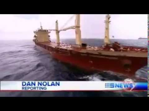Orica Ship of Shame Newcastle (Channel 9 News)