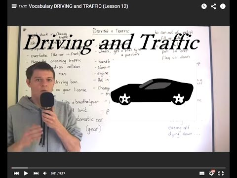 Vocabulary DRIVING and TRAFFIC (Lesson 12)
