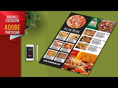 Pizza Restaurant Menu Design In Adobe Illustrator Tutorials