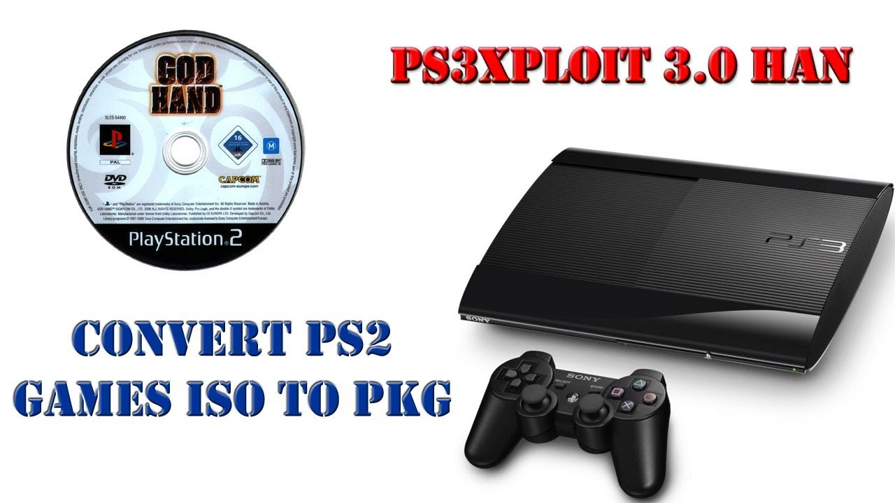 How To: Convert PS2 Games ISO To PKG For PS3 Super Slim / Slim OFW 4 82 Han  Enabler