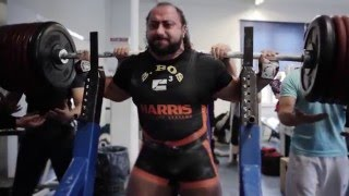Zahir Khudayarov RAW squat with wraps 505 kg (1113 lbs)