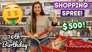 SPENDING ALL HER BIRTHDAY MONEY! SHOPPING SPREE!