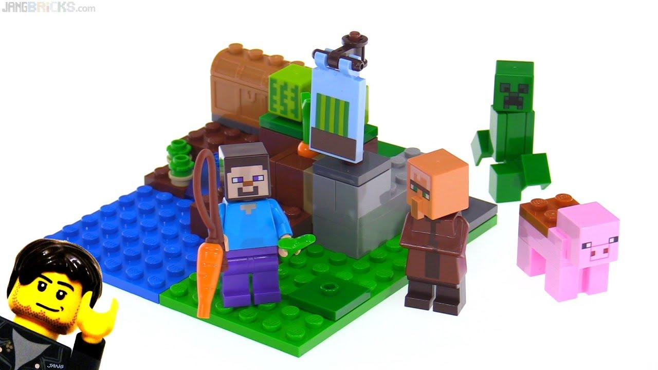 Lego Minecraft The Melon Farm Review 21138 Youtube
