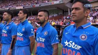 Fahad Farooque - Adelaide Oval Australia Day T20 Indian Anthem Ceremony - 2015