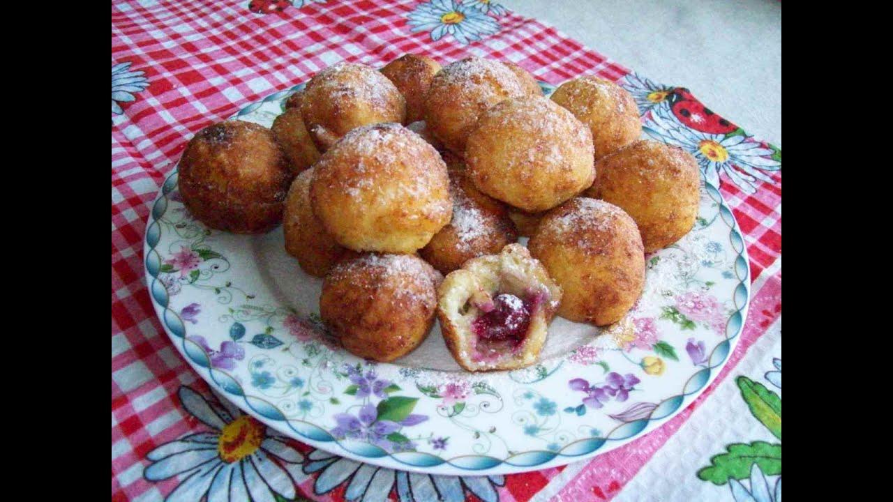 пампушки з вишнями рецепт