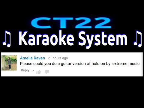 Extreme Music - Hold On KARAOKE GUITAR REQUEST