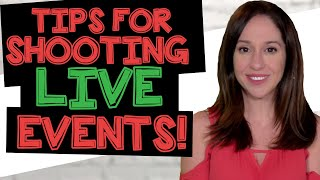 Tips for Shooting Live Events {DOS AND DON'TS!}