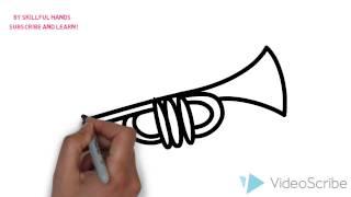 How to Draw a trumpet / Как нарисовать трубу
