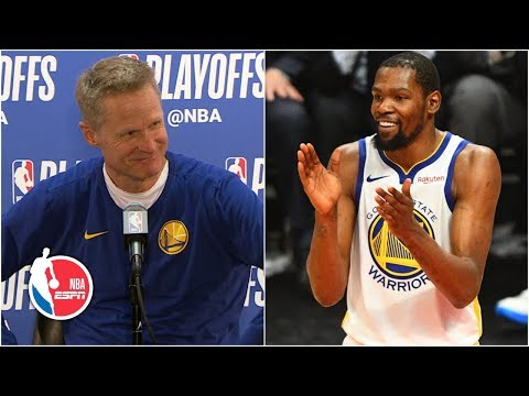 Kevin Durant's 50-point performance 'greatest I've ever seen' – Steve Kerr | 2019 NBA Playoffs