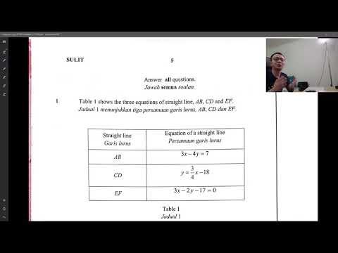 SPM Add Math - SBP 2018 - Paper 1 discussion