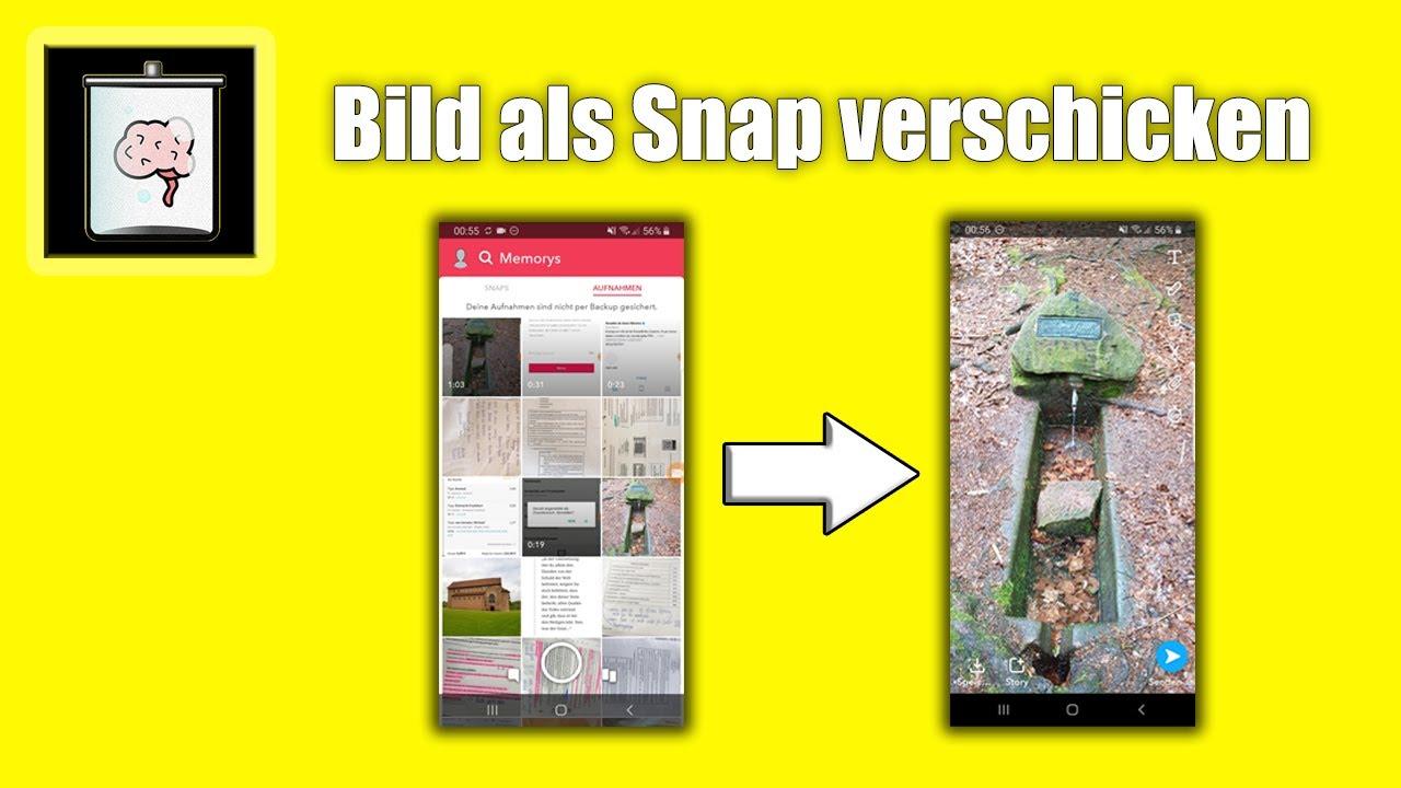 snapchat filter um bilder aus galerie