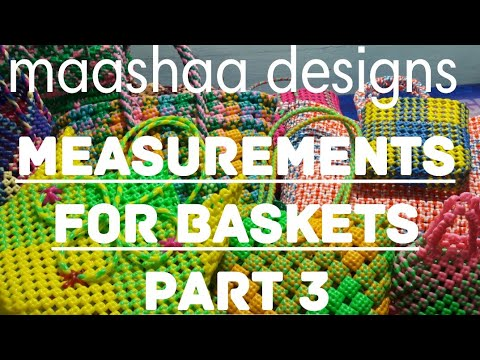 how to take measurements for plastic wire basket part 3