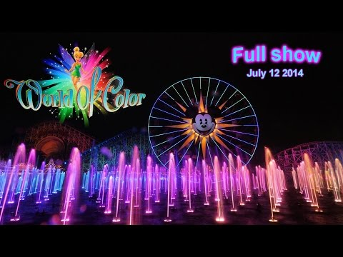 World of Color Full Show incl. Fire Jets sequence, GoPro HD