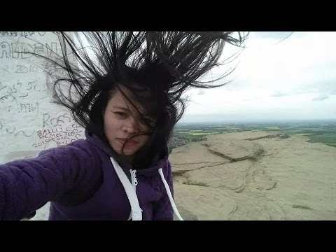 Very Windy Day @Roseberry Topping - YouTube