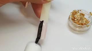 Фольга, ускоренный видео урок дизайна ногтей