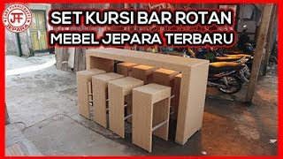 Set Kursi Bar Rotan Sintetis Minimalis Harga Murah Asli Jepara