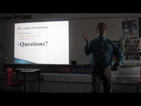 2nd video of my presentation at Bayshore Community Academy in Oconto