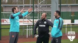 BT Sport Pub Cup | Arsenal's Petr Cech and David Ospina give Sunday League keepers some training