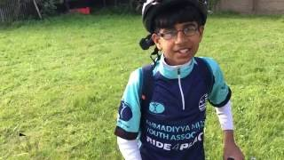 Inspirational Interview with young boy at Ride4Peace